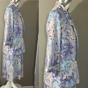 Vintage Skirts - Vintage 80s Pastel Abstract Skirt Suit